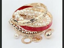 Ladies Fashion Bangles Red Gold New In Pkgs