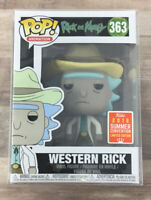 Funko Pop! Rick And Morty Western Rick #363 2018 SDCC Exclusive + PROTECTOR F04