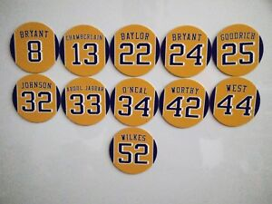 Los Angeles Lakers Jersey Magnets - Retired Jerseys - Select a player - Kobe etc