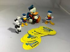 Disney Disneyland Donald Duck Gumball Dispenser Figurines Plastic Stickers
