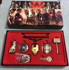 MARVEL Avengers Collana Portachiavi Portachiavi Box Set HULK THOR IRON MAN COSMO Kids