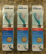 *NEW* Lot of 3-2pk Philips Sonicare For Kids Replacement Brush Heads HX6032