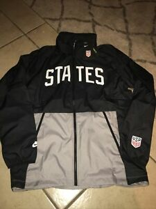 New Nike USA Black Zip Windbreaker Jacket Soccer Olympic CN7075-010 Men's XXL
