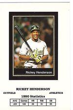 "RARE RICKEY HENDERSON 1991 BALLSTREET ""RARE UNCUT"" BASEBALL CARD #18! LEGEND!"