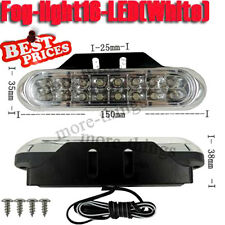2 Pcs Car Truck Grille Universal Day Fog Aux 16 LED White Driving Light New