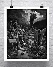 Valley of Dry Bones Gustave Dore Fine Art Rolled Canvas Giclee Print 24x30 in.