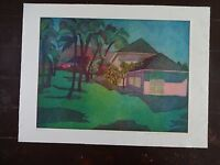 "Carole Sue Lebbin Etching ""S. OF ST. LUCIA"" Signed/Artists Proof & dated 1978"