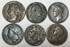 More details for 6 x old farthing coins charles ii - william iiii various grades