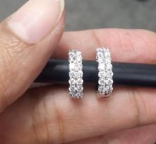 DEAL! 0.70 Carat Natural Round Diamonds Hoops Huggies Hoops Earrings in 14k Gold
