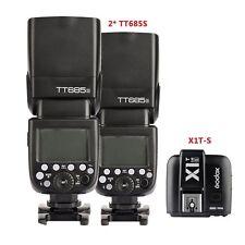 Godox 2 X TT685S TTL HSS 2.4G Flash Speedlite + X1T-S Trigger Kit fr Sony Camera