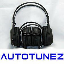 2X WIRELESS IR CORDLESS Dual Channel Stereo Headphones Infrared Autotunez