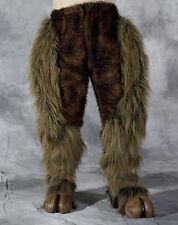 Legs & Hooves Brown Hairy Pants & Feet  Devil Faun Beast Adult Halloween Costume