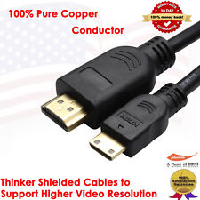 10FT HDMI to Mini HDMI Cable Gold A to C NEW 3M Camcorder Camera