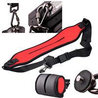 Anti-slip Neoprene Quick Sling Shoulder Belt Strap for DLSR SLR Camera Red