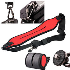 Anti-slip Neoprene Quick Sling Shoulder Belt Strap for DLSR SLR Camera Red