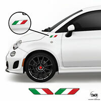 Italian Flag Side Wing Stripes For Fiat 500 Abarth Scorpion Vinyl Decal Stickers