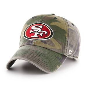 San Francisco 49ers '47 Clean Up Cotton Camo Adjustable On Field Hat Cap NFL