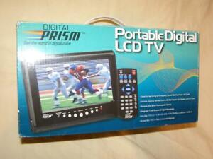 "Digital Prizm 7"" Portable HandHeld Digital LCD TV With Built-in ATSC/NTSC Tuner"
