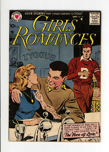 GIRLS' ROMANCES #54 - GREAT COVER - VERY RARE: NONE on CGC - 1958 DC
