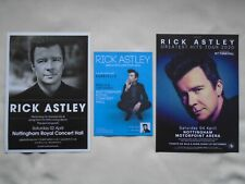 RICK ASTLEY Live in Concert collection of tour flyers x 3 UK gigs 2016/18/20