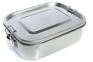 Stainless Steel Lunch Leakproof Boxes, 800ml, UK Seller, Fast Delivery