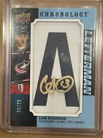 "2019-20 Chronology Cam Atkinson Letterman ""A""  Shadowbox auto #'d 23 OF 25"