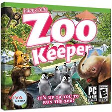 Happy Tails ZooKeeper Wild Animals SIM Tycoon PC NEW