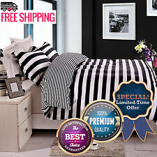 3 Piece Black And White S Bedding Cover Set Pillow Shams Full/Queen Size