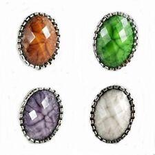 Ovale Modeschmuck-Ringe aus gemischten Metallen