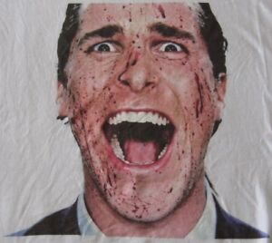 New Ladies American Psycho Christian Bale Patrick Batemam Dress Stye T Shirt