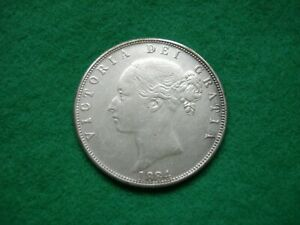 Victoria 1884 Young Head Half Crown Filler coin FREEPOST
