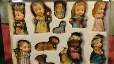 NEW IN BOX HOLIDAY TIME 11 PIECE CHILDREN'S NATIVITY SET