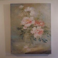 Reproduction peinture à l'huile Bouquet vase fleurs oil painting flowers France