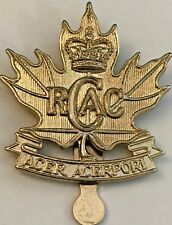 Royal Canadian Army Cadets RCAC Post-WWII C Lamond Military Cap Badge #4936
