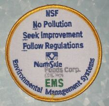 """North Side Foods Environmental Management Systems Patch - 3 1/2"""" x 3 1/2"""" NSF"""