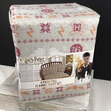 Harry Potter Full Flannel Sheet Set - 4 Pieces
