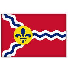 "Saint Louis City Flag car bumper sticker window decal 5"" x 3"""