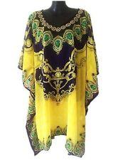 Knee Length Chiffon Kaftan Dresses for Women