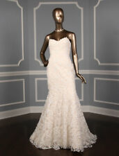 NEW! Romona Keveza RK7408 Strapless Fit and Flare Sweetheart Lace Wedding Dress
