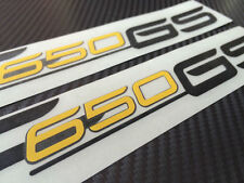 BMW F650 GS decals sticker graphic kit F650GS decal black/yellow