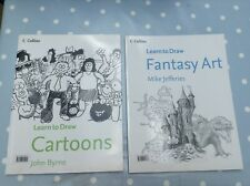 Collins Learn to Draw books x 2: Fantasy Art and Cartoons
