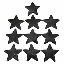 10 Pcs Black Sequin Star Iron on Patches Appliques DIY Bag Hat Clothing Craft