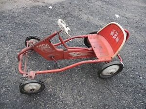 Vintage Rare 1960's Original Murray Red Tot Rd Metal Pedal Car Boys Youth Toy