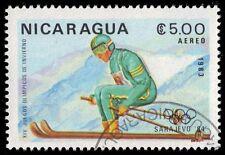 """NICARAGUA 1273 (Mi2422) - Sarajevo Olympics """"Alpine Skiing"""" (pf6083)"""