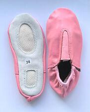 Schläppchen, Gymnastikschuhe pink leder Größe: 26-34