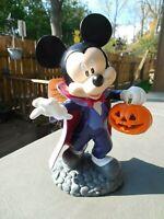 "VAMPIRE MICKEY MOUSE GARDEN STATUE Disney Halloween decoration 10"" LED 2020 rare"
