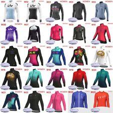 Jersey de ciclismo de invierno de 2019 mujeres camisas mangas largas de Lana térmica Ropa E51