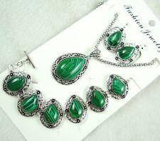 Women Tibetan Silver malachite Pendant Necklace Bracelets, earrings   AG-8