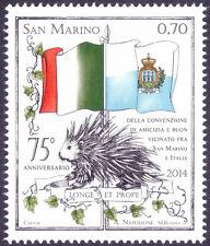 2014 SAN MARINO 75° ANN. CONVENZIONE DI AMICIZIA ITALIA-S.MARINO CONGIUNTA 1 V.