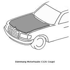 Mercedes Benz C126 Coupe Dämmmatte für Motorhaube Dämmung Motor W126 Coupé SEC .